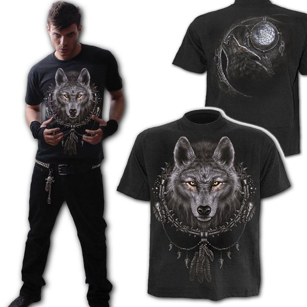 SPIRAL DIRECT Wolf Dreams Gothic T-Shirt - Large: 42-44 inches